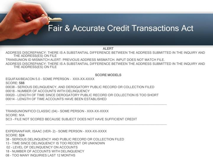 Fair & Accurate Credit Transactions Act