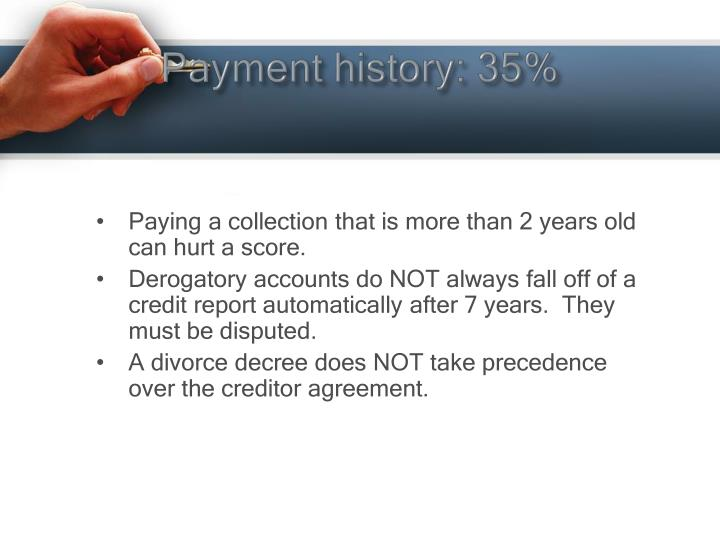 Payment history: 35%
