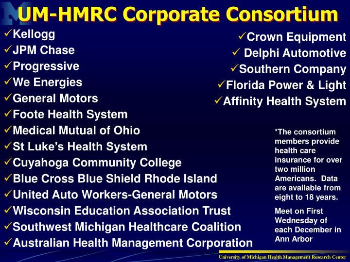 UM-HMRC Corporate Consortium
