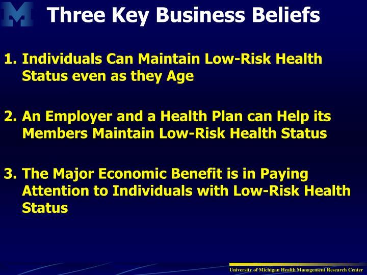 Three Key Business Beliefs
