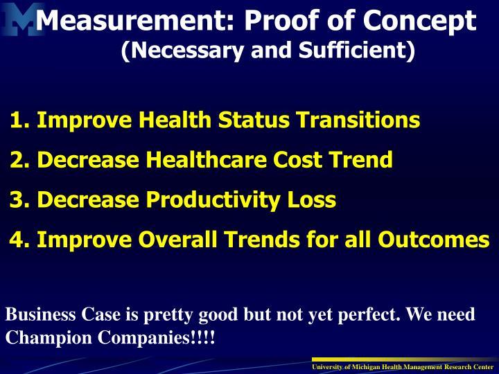 Measurement: Proof of Concept
