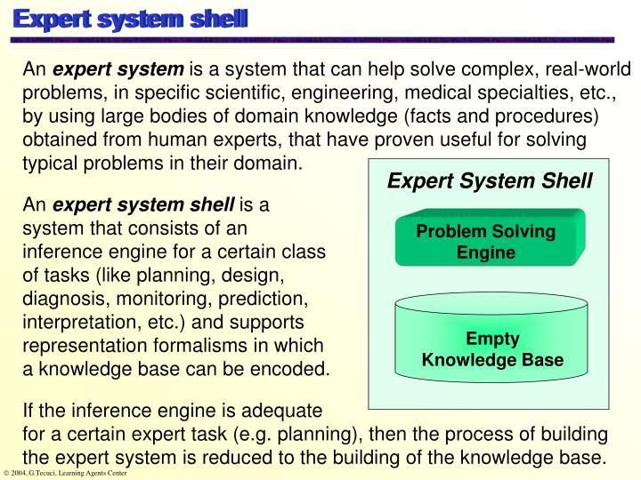 Expert system shell