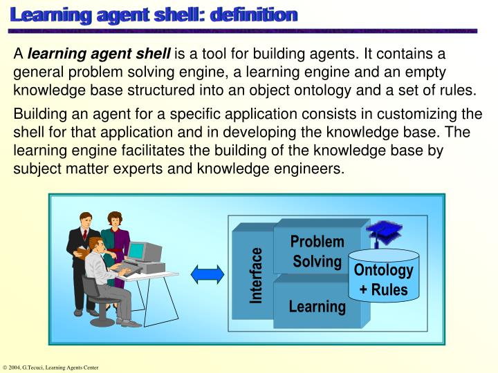 Learning agent shell: definition