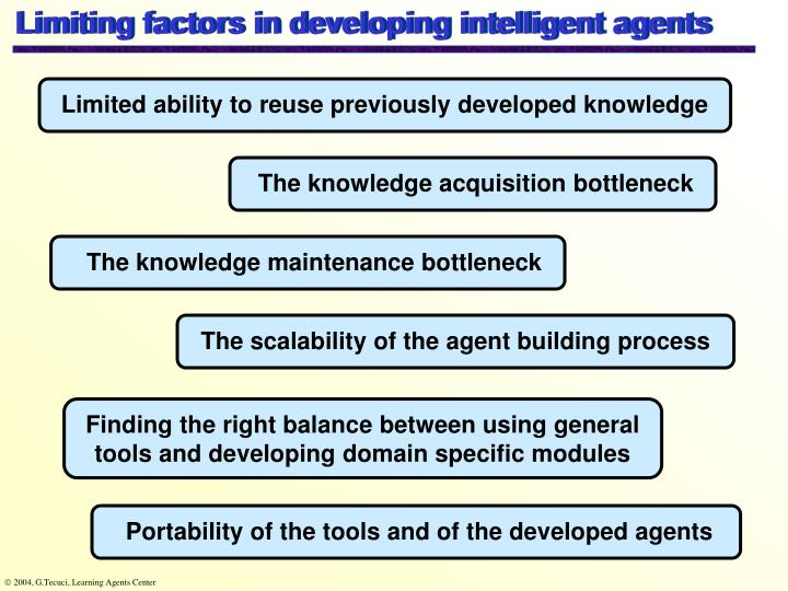 Limiting factors in developing intelligent agents