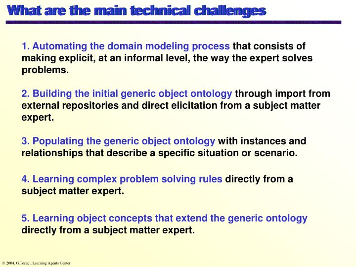 What are the main technical challenges