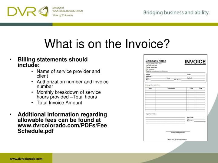 What is on the Invoice?