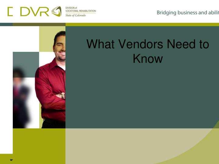 What Vendors Need to Know