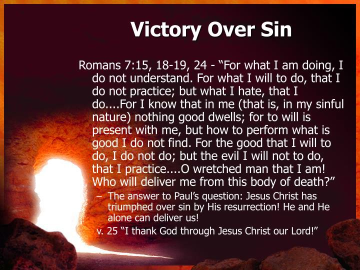 Victory Over Sin