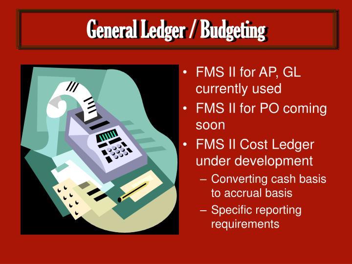 General Ledger / Budgeting