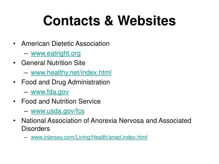 Contacts & Websites