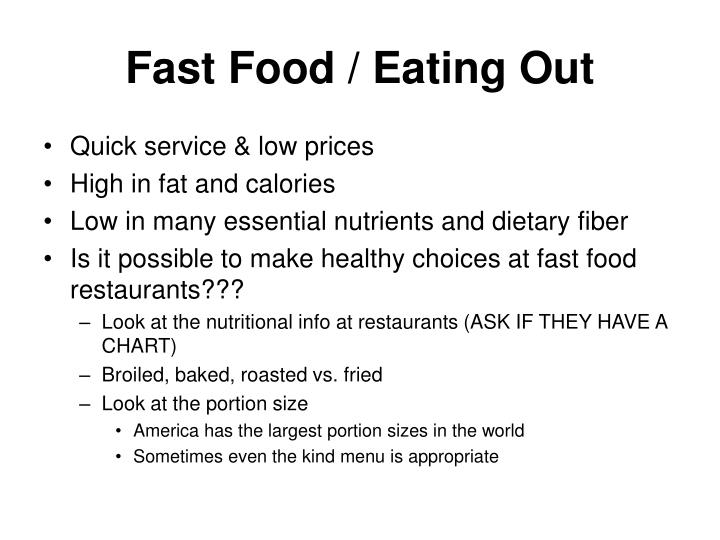 Fast Food / Eating Out