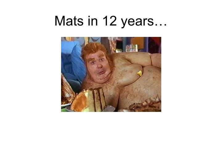 Mats in 12 years…