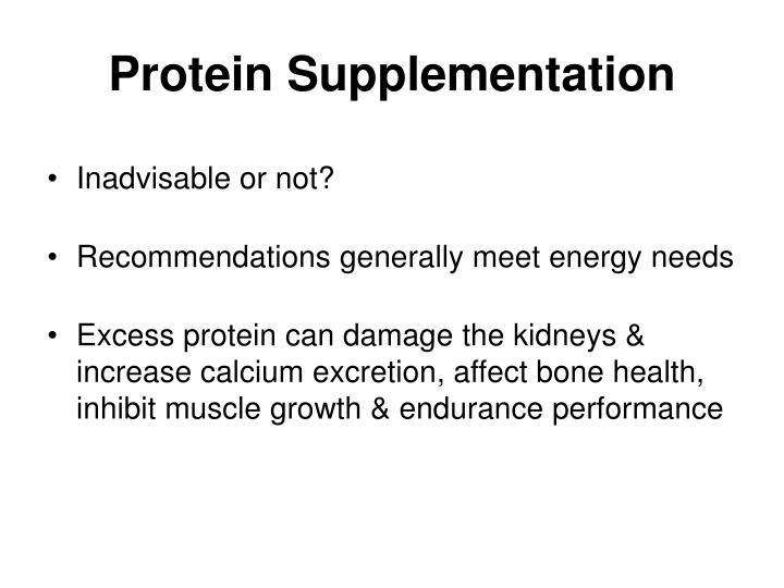 Protein Supplementation