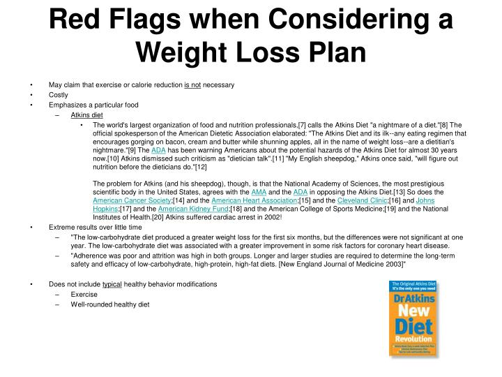 Red Flags when Considering a Weight Loss Plan