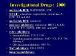 investigational drugs 2000