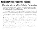characteristics of a good interior perspective