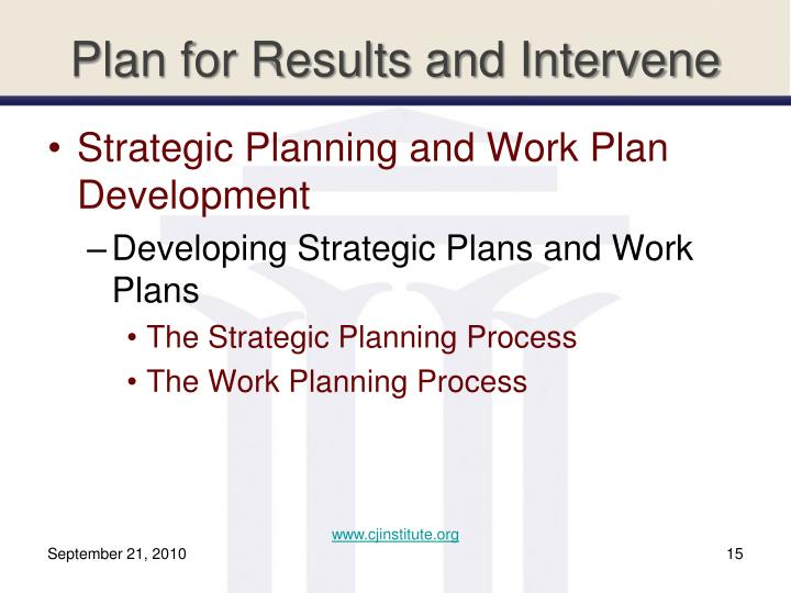 Plan for Results and Intervene