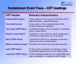 containment event trees cet headings