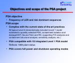 objectives and scope of the psa project