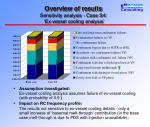 overview of results sensitivity analysis case s4 ex vessel cooling analysis