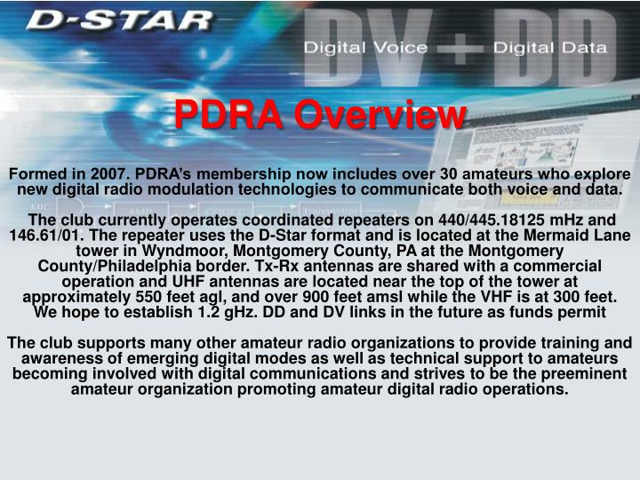 PDRA Overview