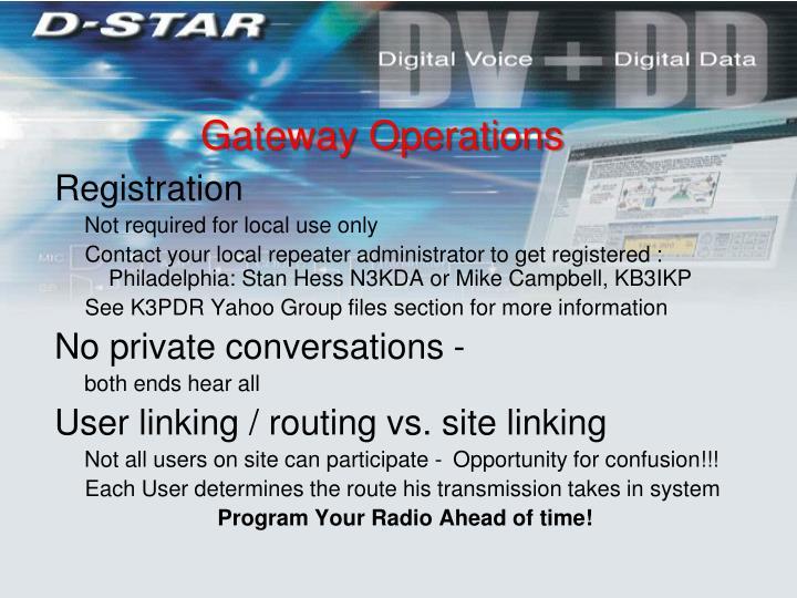 Gateway Operations