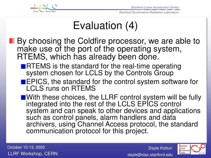 Evaluation (4)