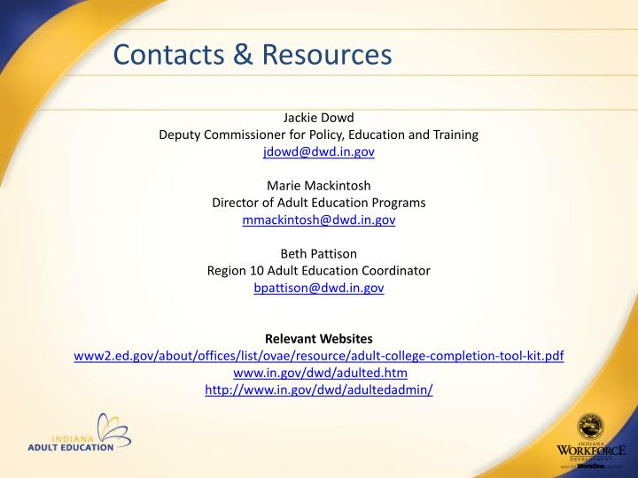 Contacts & Resources
