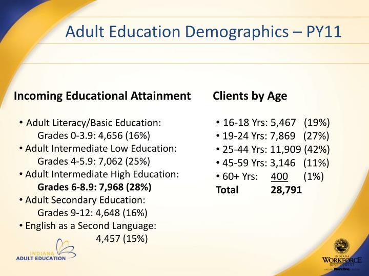 Adult Education Demographics – PY11