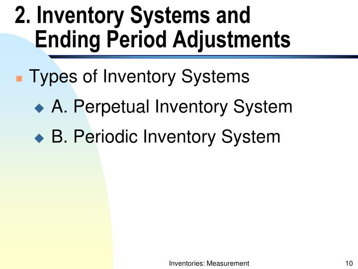 2. Inventory Systems and