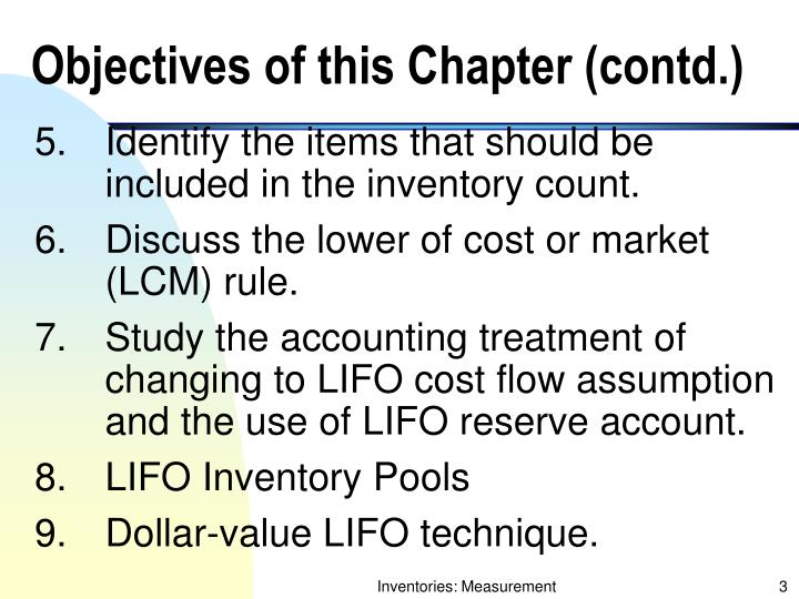Objectives of this chapter contd