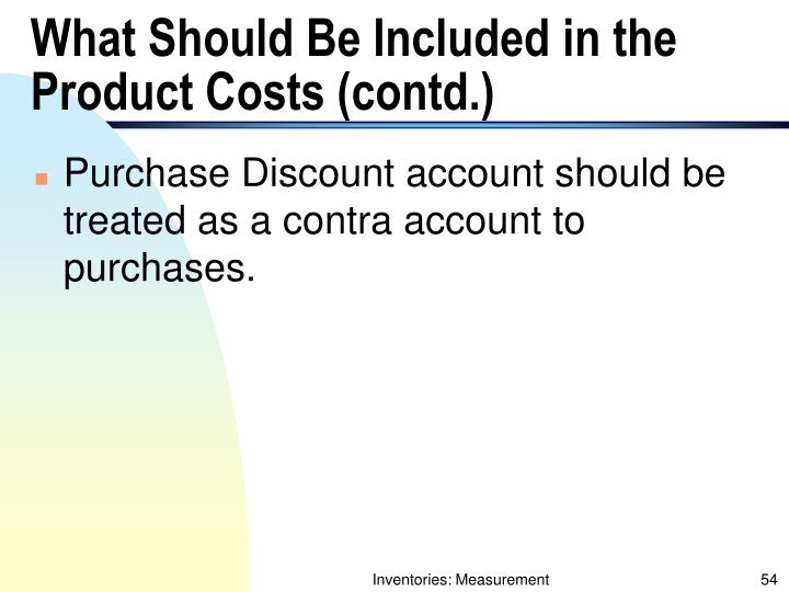 What Should Be Included in the Product Costs (contd.)