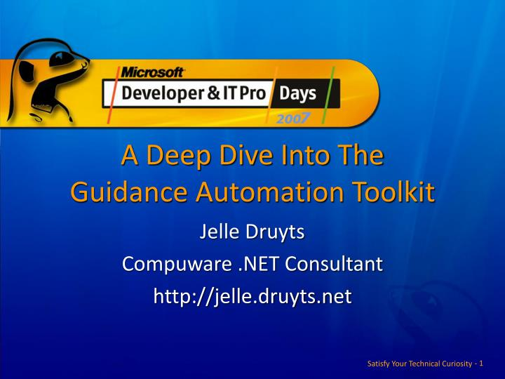 a deep dive into the guidance automation toolkit n.