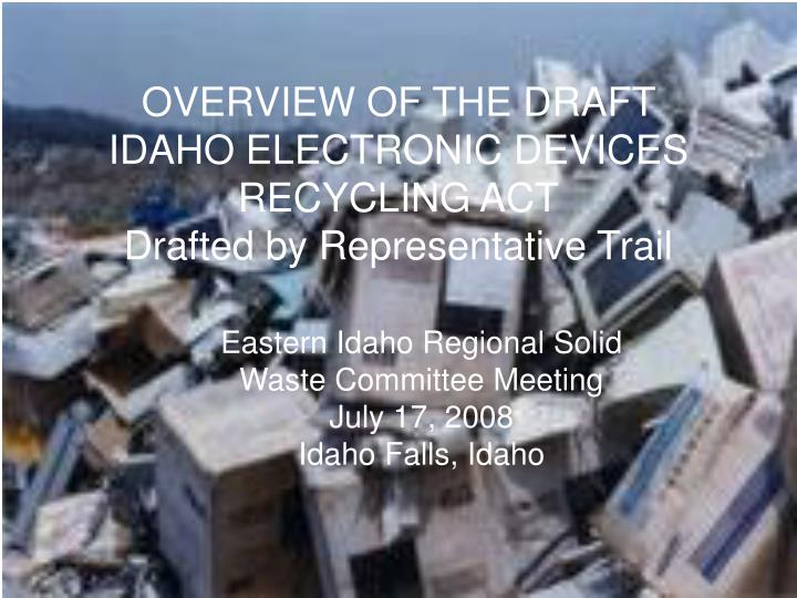 crt electronic waste committee