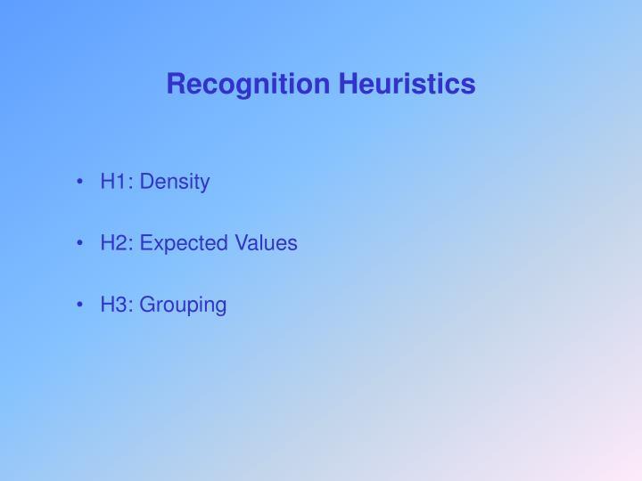 Recognition Heuristics