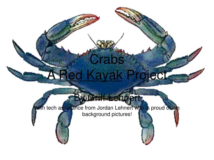 crabs a red kayak project n.