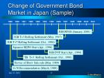 change of government bond market in japan sample