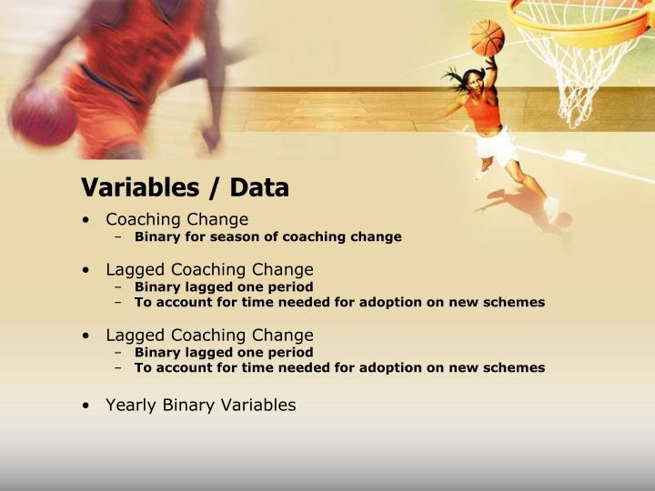 Variables / Data