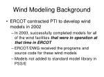 wind modeling background