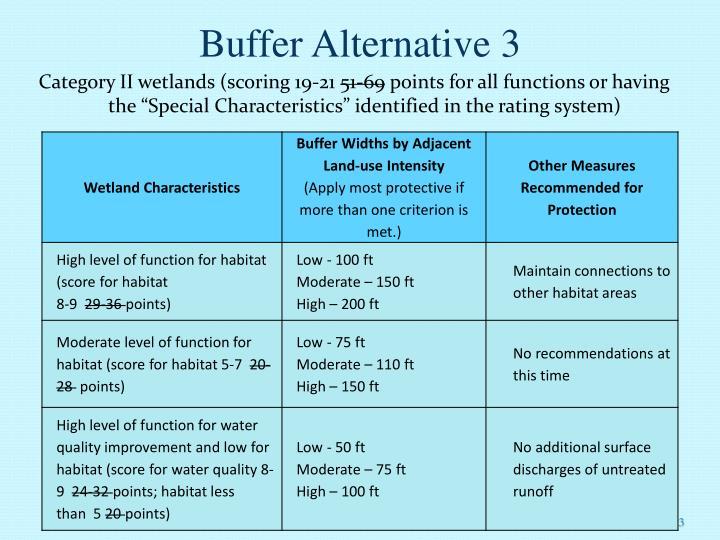 Buffer Alternative 3