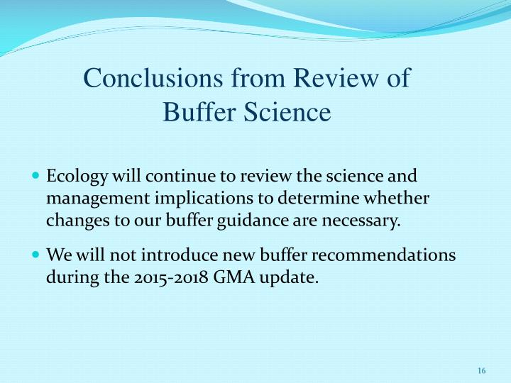 Conclusions from Review of