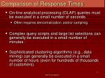 comparison of response times