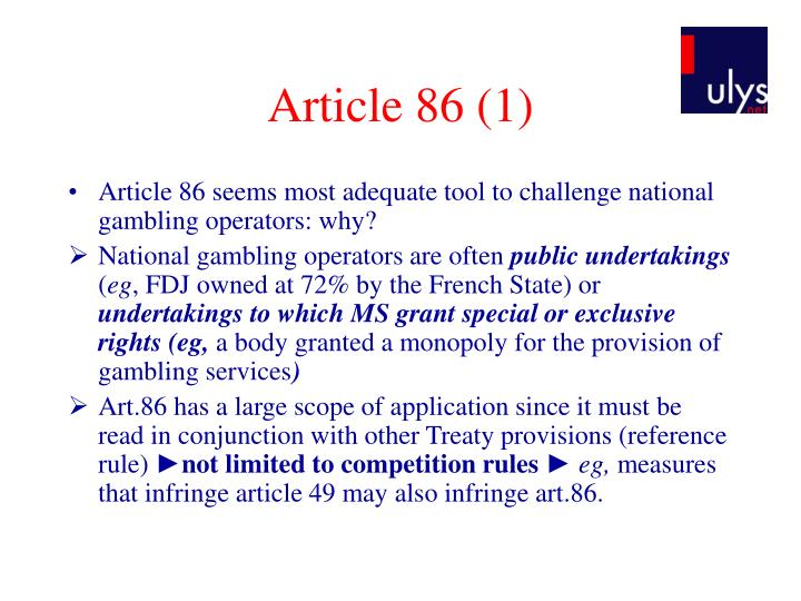 Article 86 (1)