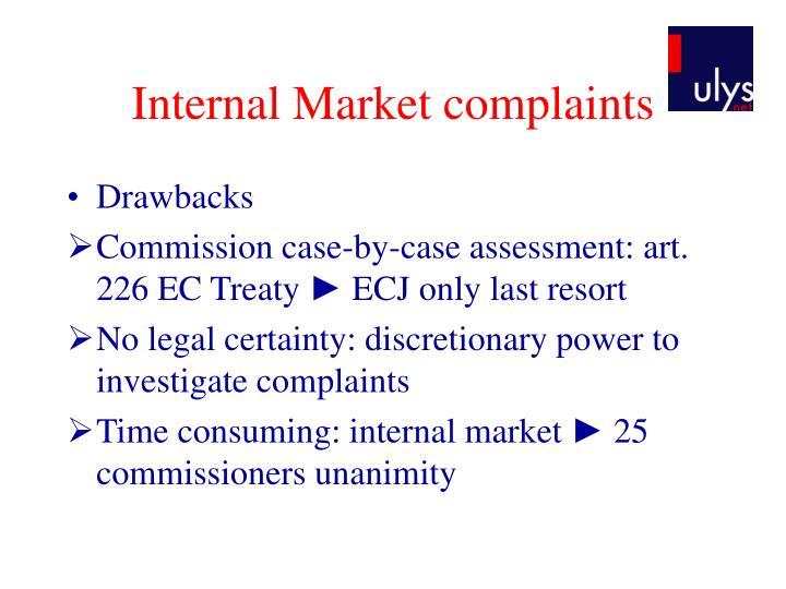 Internal Market complaints