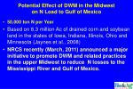 potential effect of dwm in the midwest on n load to gulf of mexico