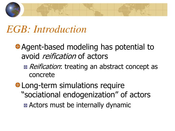EGB: Introduction