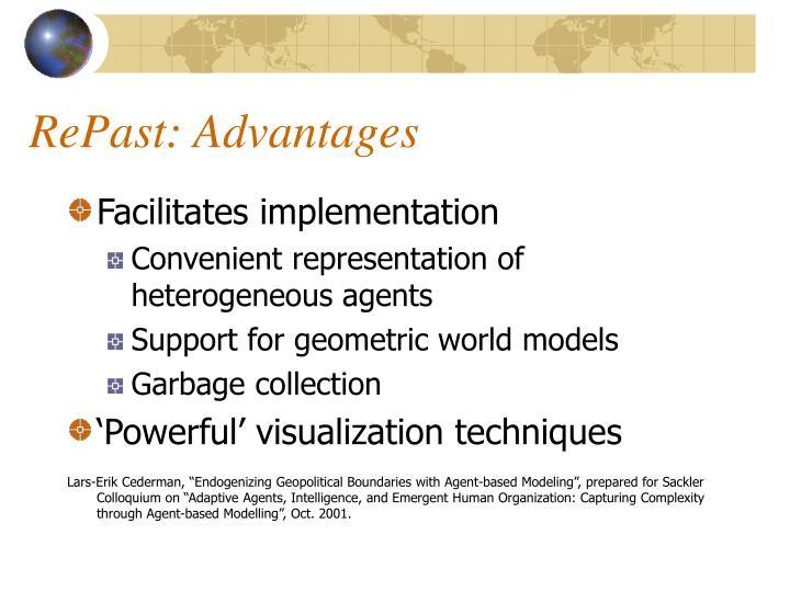 RePast: Advantages