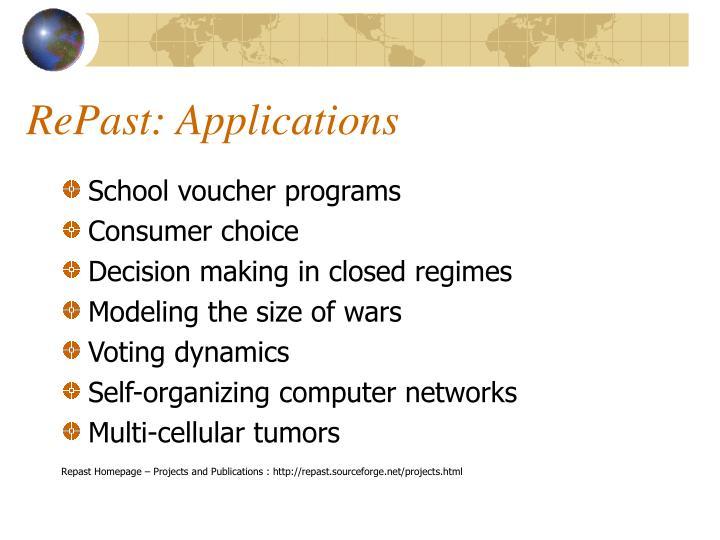 RePast: Applications