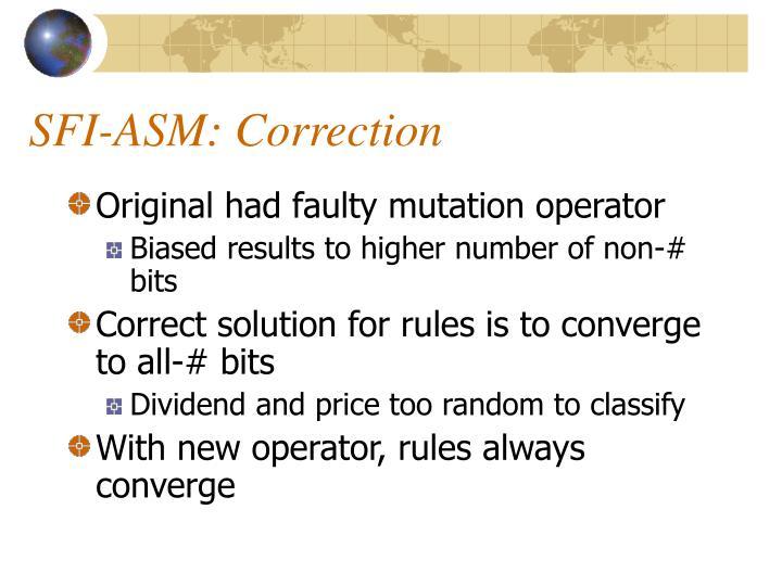 SFI-ASM: Correction