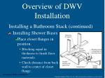 overview of dwv installation25